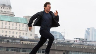 Tom Cruise Perched Atop A Speeding Train And Waved To 'Mission: Impossible' Fans Like It Was No Big Thing