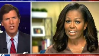 Tucker Carlson Throws An On-Air Tantrum While Comparing Michelle Obama To The Founder Of Scientology