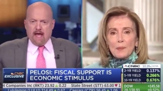 Watch Jim Cramer Awkwardly Backpedal After Calling House Speaker Nancy Pelosi 'Crazy Nancy' In Live On-Air Interview
