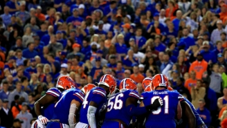 A Maintenance Tractor Caught On Fire At Florida's Football Stadium