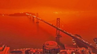 Drone Footage Of The Bay Area Orange Sky Works Eerily Well With The 'Blade Runner 2049' Soundtrack