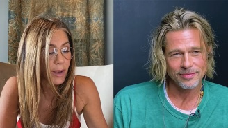 Jennifer Aniston And Brad Pitt Virtually Reunited To Reenact The Pool Scene From 'Fast Times At Ridgemont High'