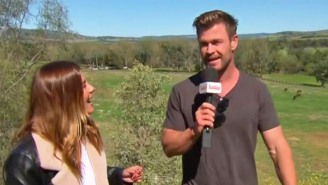 Chris Hemsworth Crashed An Australian Weather Forecast, And A Host's Reaction Was Pure Thunder