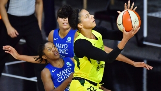 An Alysha Clark Buzzer Beater Helped The Storm Hold Off The Lynx In Game 1 Of The Conference Finals