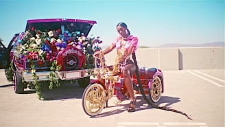 Flo Milli's Flashy 'Send The Addy/May I' Video Puts On A Car Show For The Ages
