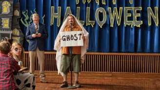 Adam Sandler Reunites With A 'Happy Gilmore' Co-Star In The First Look At Netflix's 'Hubie Halloween'
