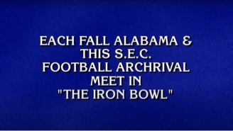 An Iron Bowl Question Stumped 'Jeopardy!' Contestants And College Football Fans Were Furious