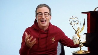 John Oliver Is 'Real Close' To Achieving His Biggest Goal This Year (After That Emmy Win)