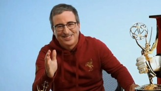 John Oliver's Hoodie At The Emmys Was Worthy Of Its Own Award