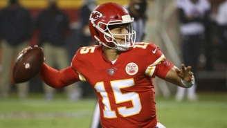 Patrick Mahomes Left The Chiefs' Loss To The Titans In The Fourth Quarter After Taking A Knee To The Helmet