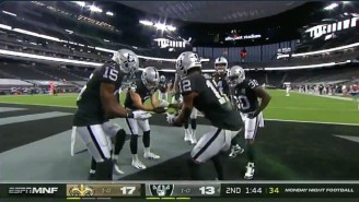 The Raiders Broke Out A Hand Sanitizer Touchdown Celebration Against The Saints