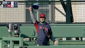 A Fan Broke Into Fenway Park And Threw Things Off The Green Monster During Yankees-Red Sox