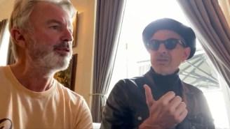 Watch Sam Neill And Jeff Goldblum Sing A Duet On The 'Jurassic Park: Dominion' Set