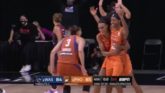 Shey Peddy Made A Buzzer-Beater To Lead The Mercury Over The Mystics In The WNBA Playoffs