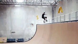 Watch Tony Hawk Collect S-K-A-T-E On A Real Ramp Just Like In 'Tony Hawk's Pro Skater'