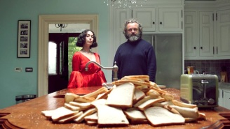 Michael Sheen Battles A Surreal Toaster In Kelly Lee Owens And John Cale's 'Corner Of My Sky' Video