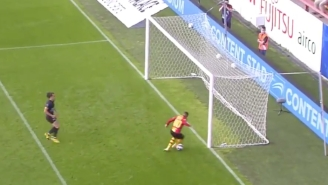 A Belgian Soccer Player's Struggle To Score On An Open Net Has To Be Seen To Be Believed