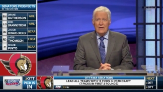 Alex Trebek Helped The Ottawa Senators Announce The No. 3 Pick In The 2020 NHL Draft