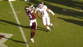 This Crazy Mississippi State Pick Six Looks Like A Horrific 'Madden' Glitch