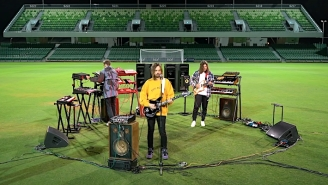 Tame Impala Play 'Elephant' To An Empty Soccer Arena To Celebrate The 'FIFA 21' World Premiere