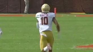 Boston College Went Up Two Scores On Clemson Thanks To A 97-Yard Fumble Return For A Touchdown