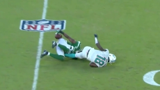 Jets Safety Marcus Maye Used His Butt To Intercept A Ryan Fitzpatrick Pass