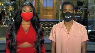 Chris Rock And Megan Thee Stallion Mask Up For An 'SNL' Promo Ahead Of The Show's Return To The Studio