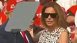 The Internet's Belief In A 'Fake Melania' Is Intensifying After An Extremely Huggy-Kissy Appearance At A Trump Rally
