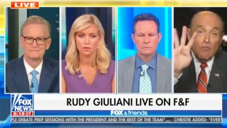 Even The 'Fox And Friends' Gang Is Clearly Exasperated By Rudy Giuliani's Deranged Ranting About Hunter Biden
