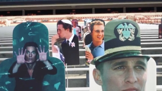Texas Put A Bunch Of Cutouts Of Matthew McConaughey In Its Stadium For Saturday's Game Against TCU