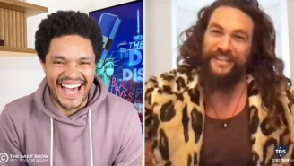 Jason Momoa Is Losing His Mind In 'Gnarly' Quarantine While Showing Off His Guitars To Trevor Noah