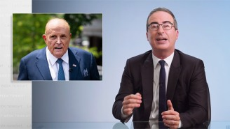 John Oliver Reacted To Rudy Giuliani's 'Borat 2' Fiasco By Resurfacing A Memory That Makes It Even Weirder