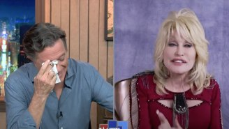 Dolly Parton Moved Stephen Colbert To Tears With A Beautiful Song On 'The Late Show'