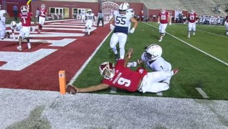 Indiana Upset No. 8 Penn State By Literal Inches On A Crazy Two-Point Conversion In Overtime
