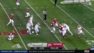 Rutgers Nearly Pulled Off The Most Insane Multi-Lateral Touchdown In Football History Against Indiana