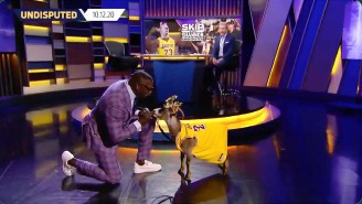 Shannon Sharpe Brought An Actual Goat Wearing A LeBron Jersey On 'Undisputed'