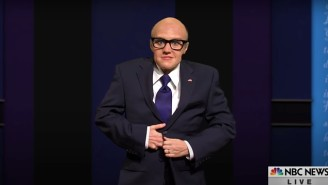 The 'SNL' Cold Open Tackled The Last Presidential Debate And Rudy Giuliani In 'Borat'