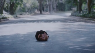 The Weeknd's Disembodied Head Goes On A Strange Journey In The 'Too Late' Video