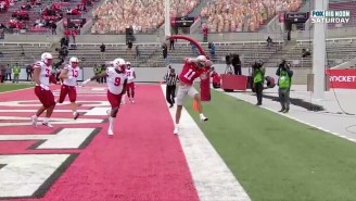 Ohio State Freshman Jaxon Smith-Njigba Secured A Touchdown Grab With An Unreal Toe Tap