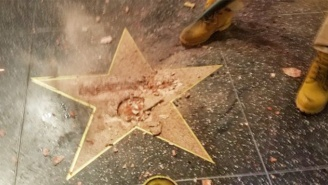 Trump's Star On The Hollywood Walk Of Fame Has Been Vandalized Yet Again And By The Same Man