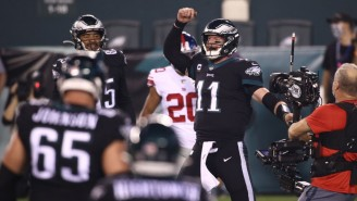 Carson Wentz Threw A Dime To Boston Scott To Give The Eagles A Last-Second Win Over The Giants