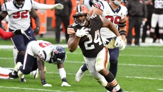 Nick Chubb Running Out Of Bounds At The 1 Cost Browns Bettors A Cover