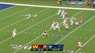 Washington Was Thankful For This Awful Fake Punt The Cowboys Tried On Thanksgiving