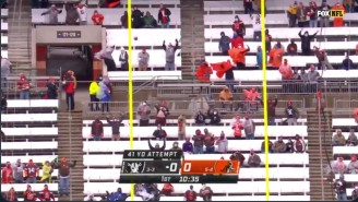 The Wind In Cleveland Is Destroying Field Goal Attempts