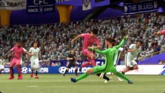 Please Enjoy This 'FIFA 21' Glitch Of A Goalie Blocking A Shot That Scores On The Other Goal