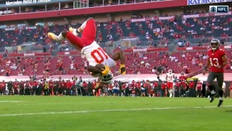 Tyreek Hill Backflipped Into The End Zone And Piled Up 200 First Quarter Yards Vs The Bucs