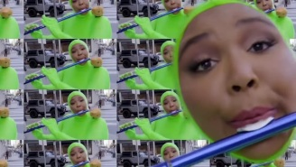 Lizzo Plays The Flute In A Green Screen Bodysuit On 'The Eric Andre Show'