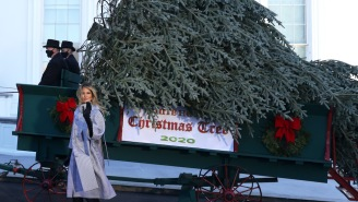 Noted Christmas Hater Melania Trump Welcomed The White House Holiday Trees, And People Had Jokes