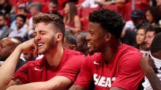 Meyers Leonard Insists Jimmy Butler Isn't An 'A**hole' And Big Face Coffee Is Good
