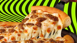 Our Review Of Pizza Hut's New Beyond Meat Italian Sausage Pizza